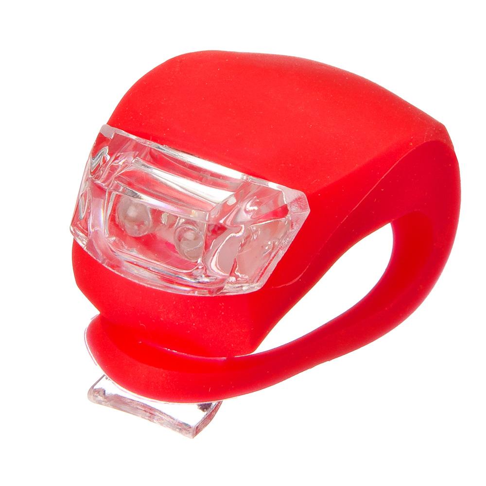 Мини-фонарь велосипедный, 3 режима, 2 диода, пит.батар. есть в комплекте: 2хСR2035, 2 цвета, SILAPRO