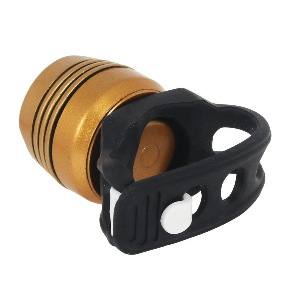 Мини-фонарь велосипедный, 2 режима, 1LED, пит. 2хCR2032, металл, резина, d 2,5 см, 2 цвета, SILAPRO