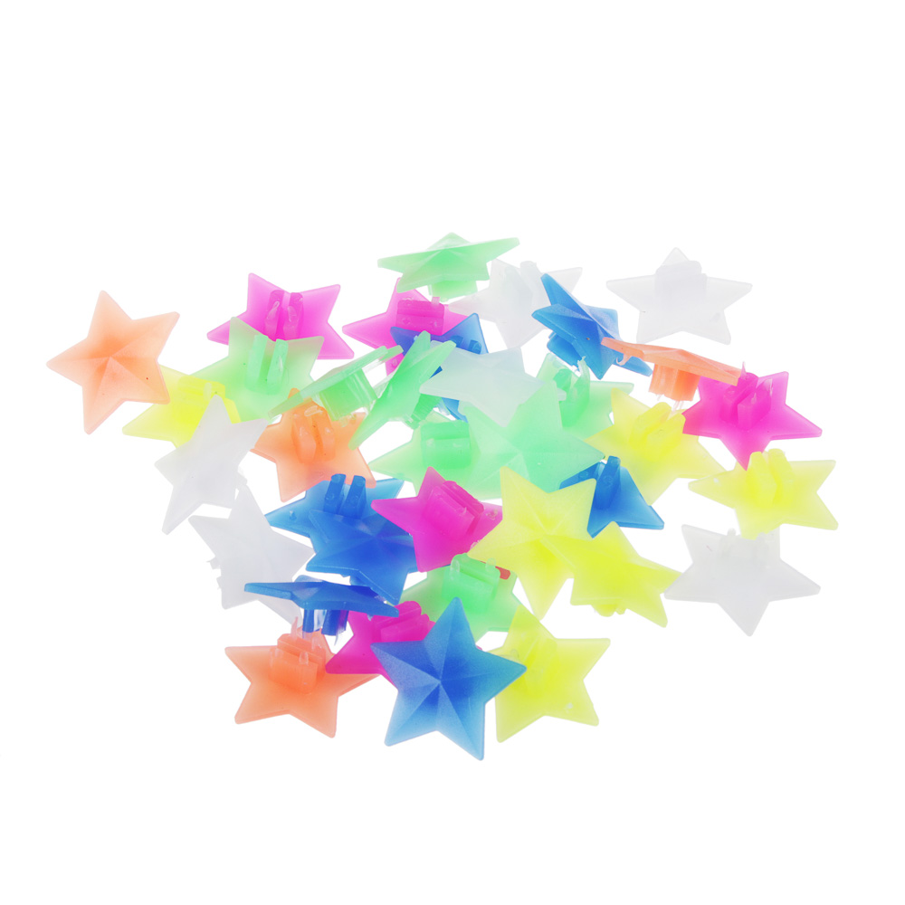 """SILAPRO Украшение на спицы велосипеда 36шт, пластик, """"Звезды цветные"""""""