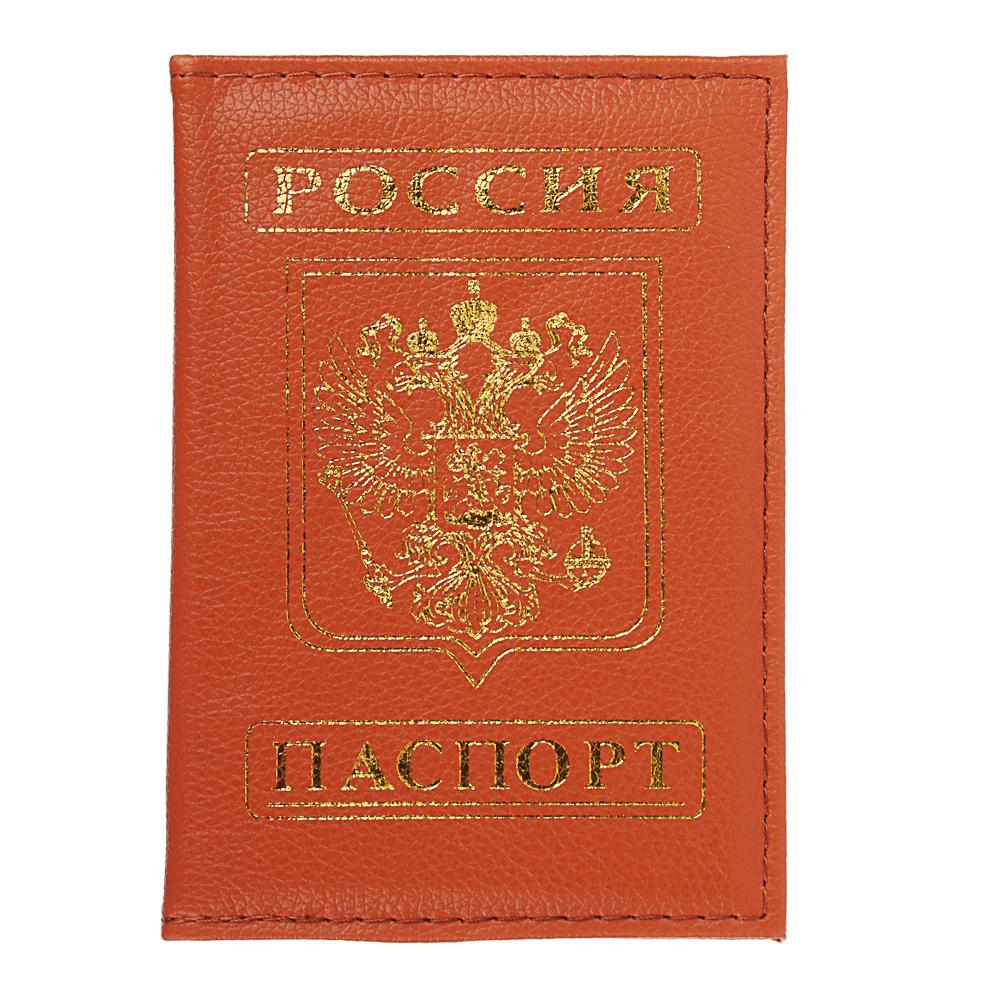 Обложка для паспорта, ПВХ, 10х14см, 5 цветов, арт.DC2016-01