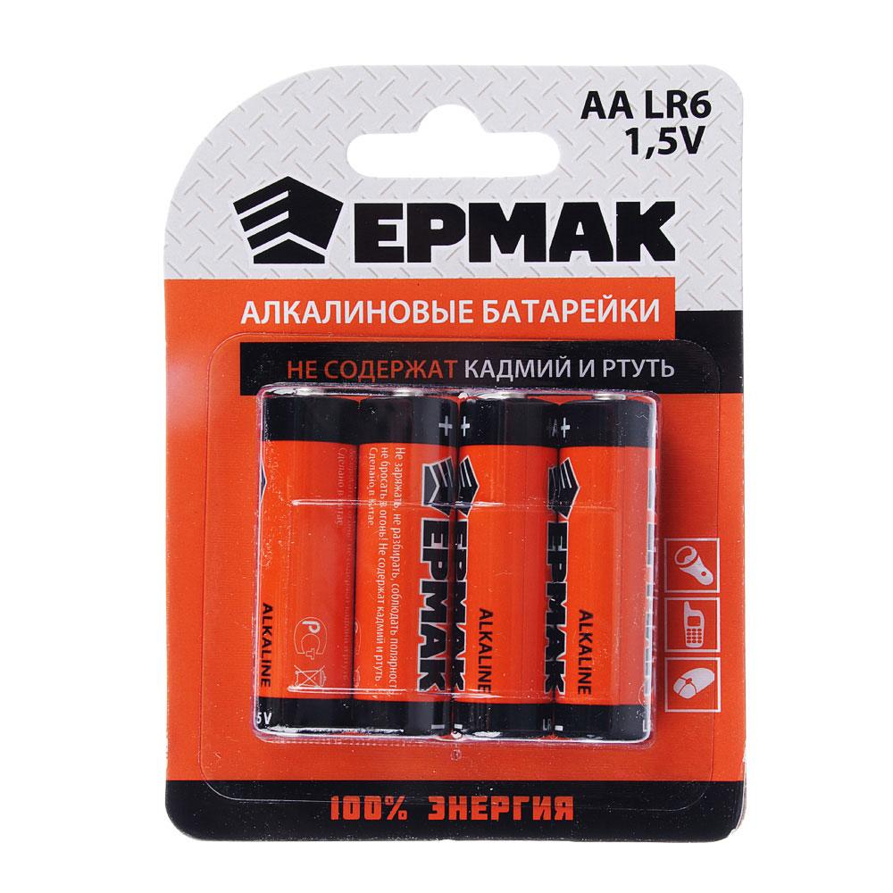 "ЕРМАК Батарейки 4шт ""Alkaline"" щелочная, тип AA(LR6), BL"
