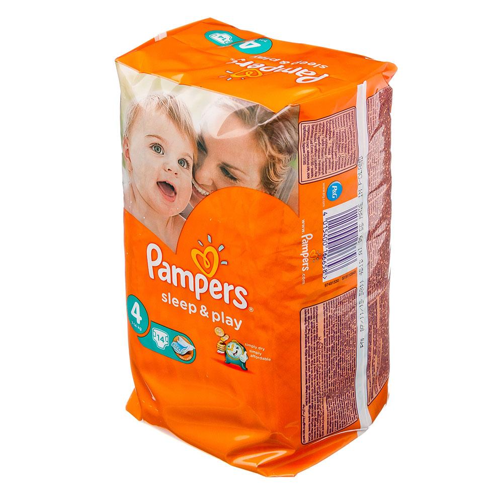 Подгузники детские PAMPERS Sleep & Play Maxi 4 (8-14 кг) 14 шт