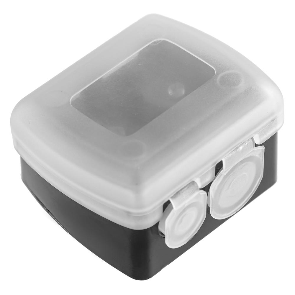 Точилка для косметических карандашей двойная, пластик, 4х3,5х2см, черный, SB-02A-11