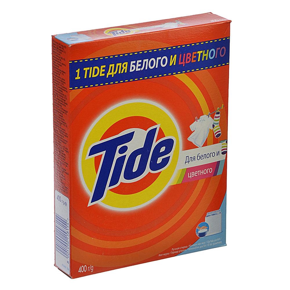 Стиральный порошок Тайд для белого и цветн. для ручной стирки Альпийская свежесть к/у 400г, 81625824