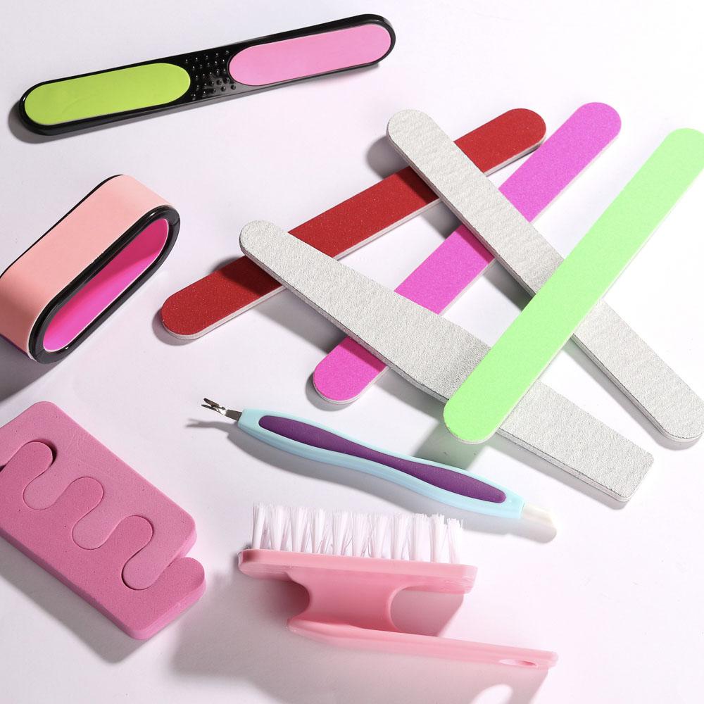 Пилка для ногтей полировочная 2-хсторонняя, 18см, ЭВА, 6 цветов, EMB03
