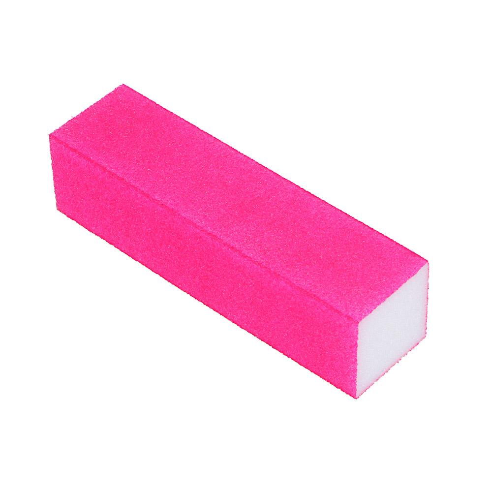 Бафик-мини для полировки ногтей 4-хсторонний, 9х2х2,5см, ЭВА, 6 цветов, B204
