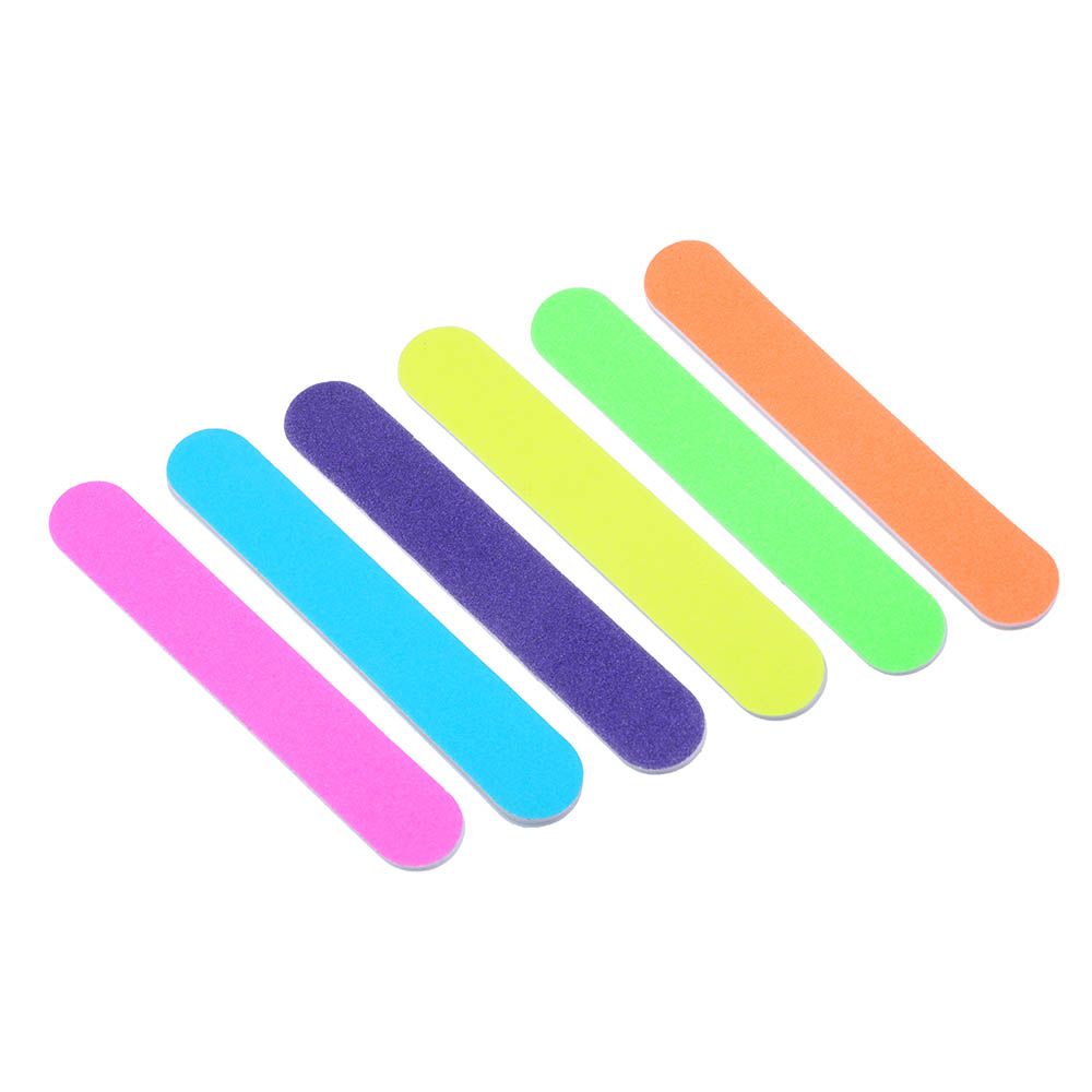 Набор маникюрный 3 пр. (пилка 11,8см, апельсин.палочка - 2шт 10см),ЭВА, дерево, 6 цветов, MS-2