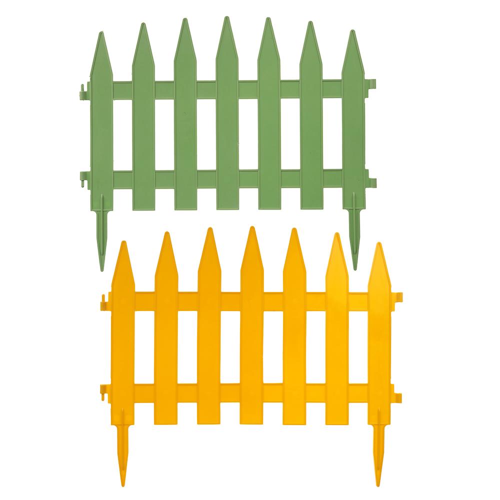 """Декоративный заборчик, набор 5 секций, полипропилен, 39x2,5x34 см, """"Солнечный сад"""""""