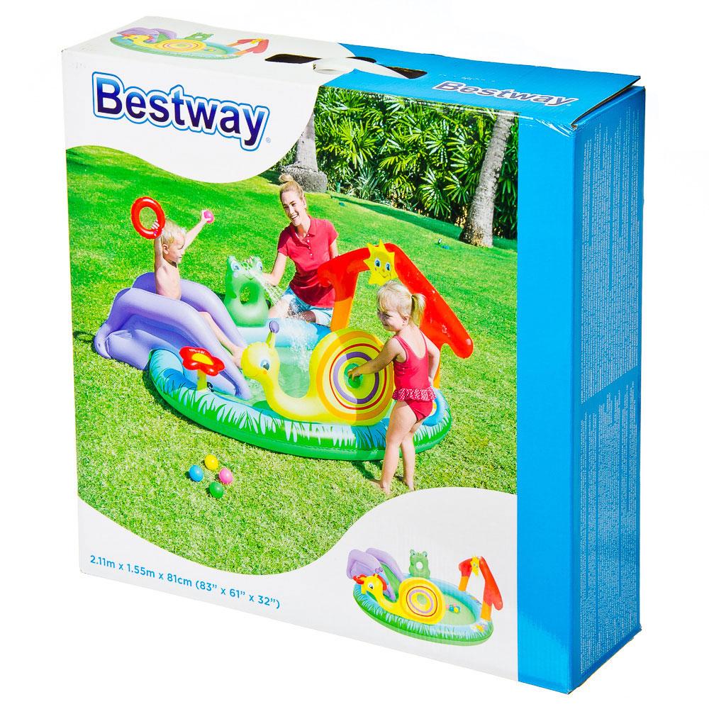 BESTWAY Бассейн игровой 211х155х81см, 144л, с брызгалкой и принадлежностями для игр, арт.53055