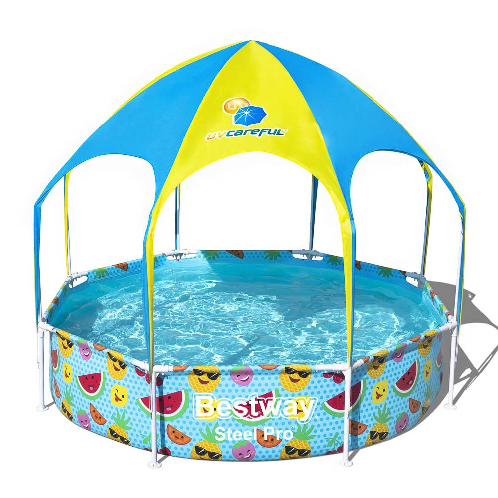Каркасный бассейн с навесом BESTWAY 56432, 244х51 см