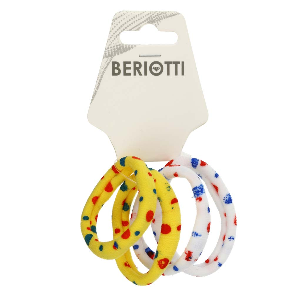 Резинки для волос BERIOTTI, 4 шт, d.4 см, 6 цветов
