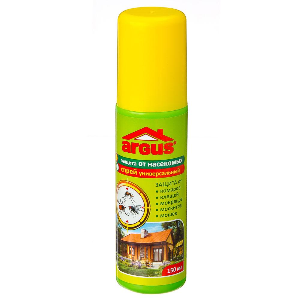 ARGUS Лосьон-спрей универсальный от комаров, клещей, мошек, москитов, мокрецов, слепней 150мл, ГМ-13