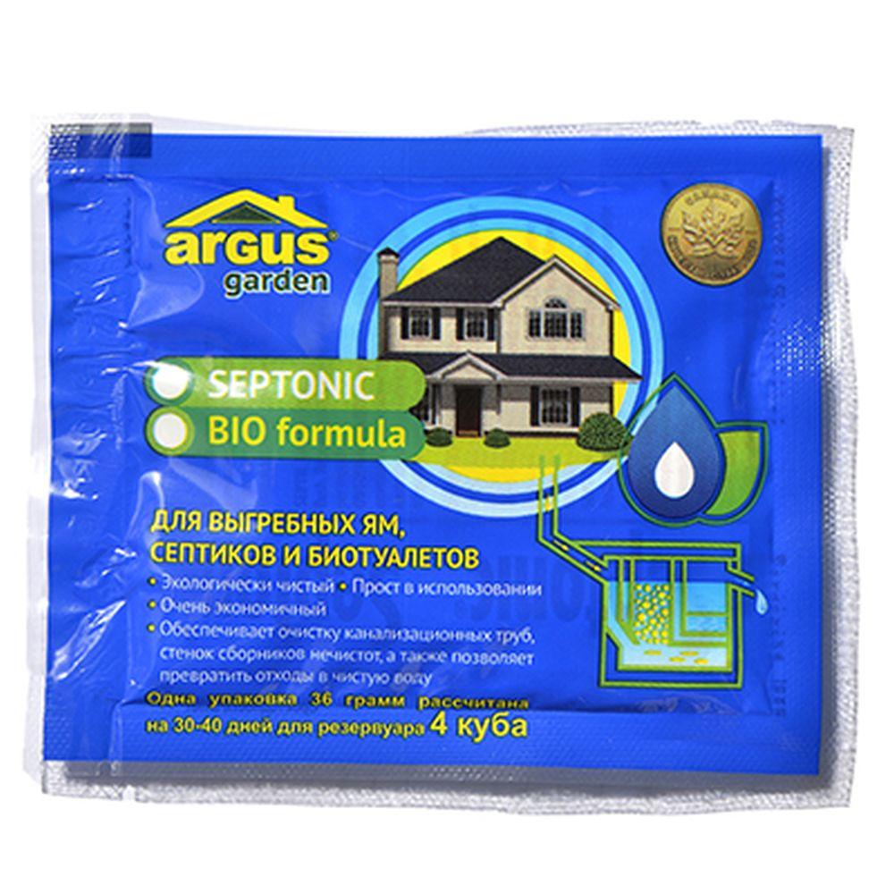 ARGUS GARDEN Средство для выгребных ям, септиков, туалетов и БИО туалетов 2 пакета 36 грамм, АР-41