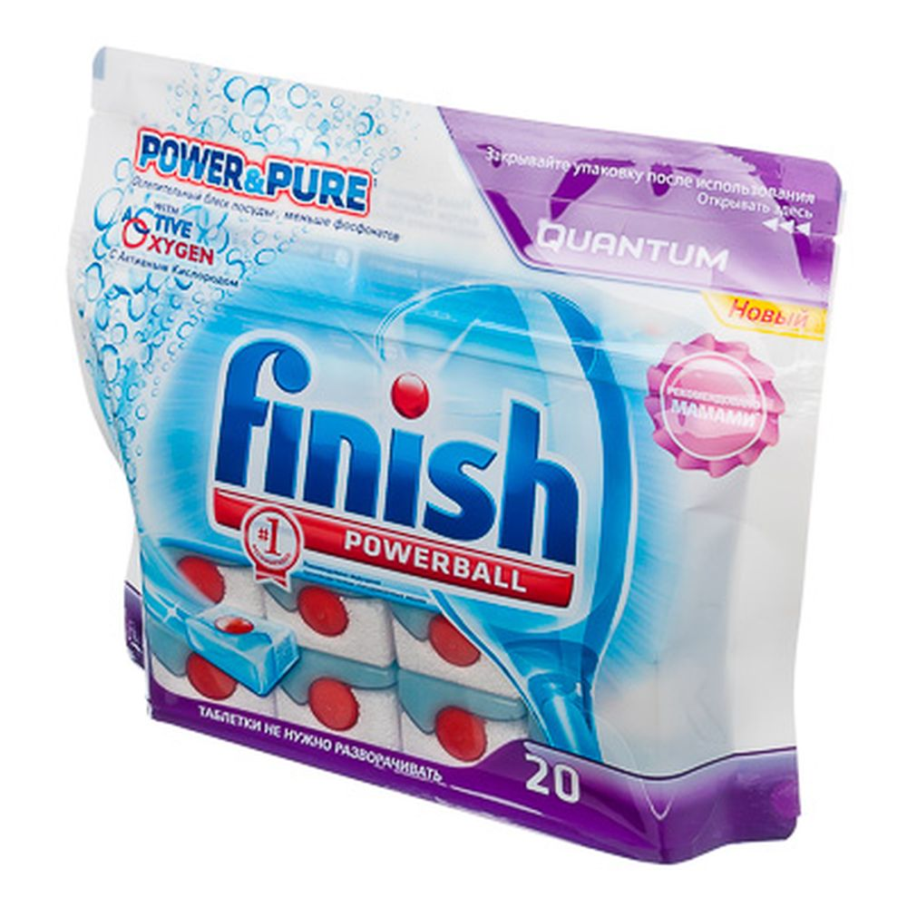 Средство для мытья посуды в посудом.машинах Финиш All in One, 20 табл