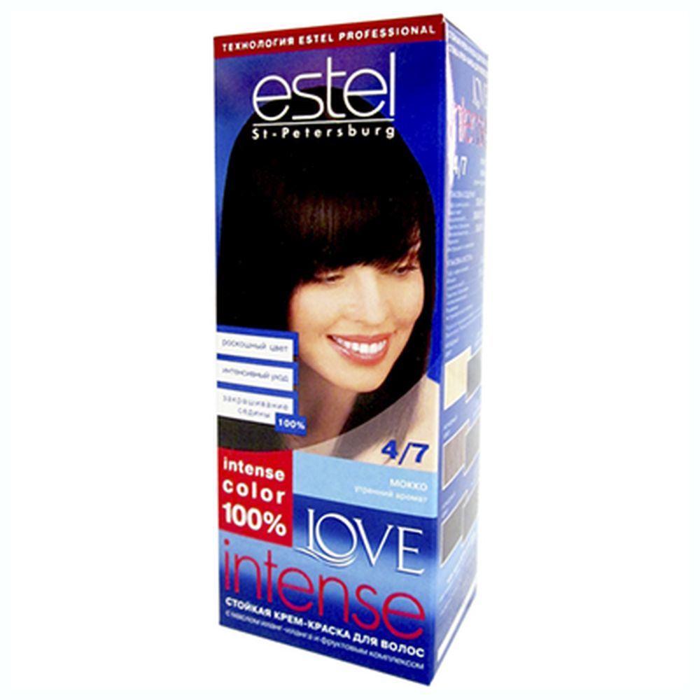 Краска для волос Estel LOVE Intense 4/7 Мокко к/у 100 мл