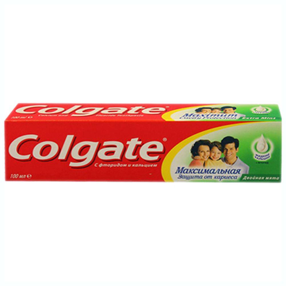 Зубная паста COLGATE Максимальная защита от кариеса Двойная мята туба 100мл,арт.188189274/188189276