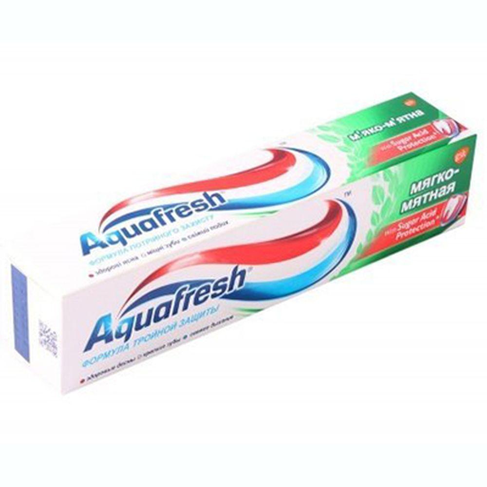 Зубная паста Аквафреш 3+ Мягко-мятная, туба, 50мл