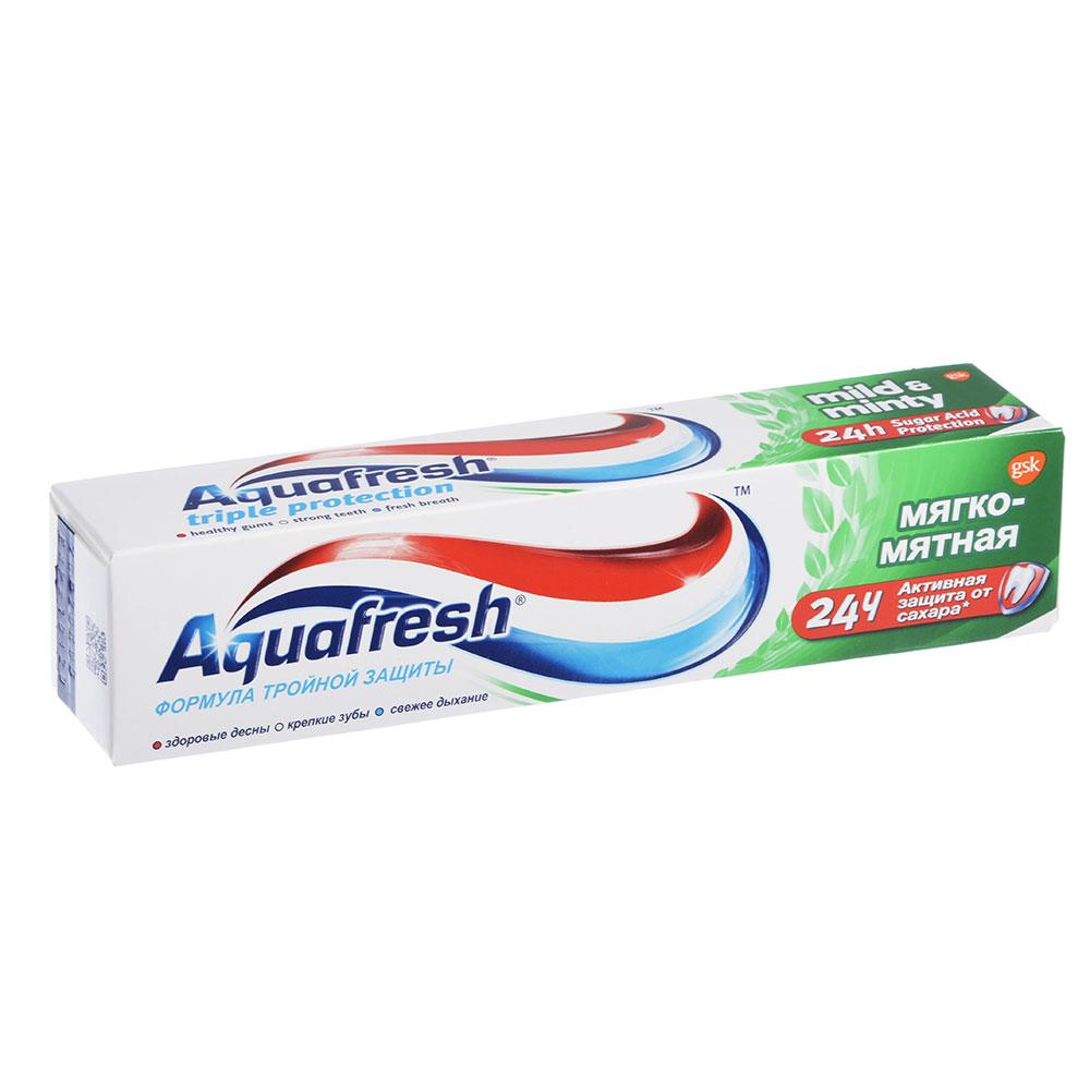 Зубная паста Аквафреш 3+ Мягко-мятная, туба, 100мл, арт.71180/71360/8005100/7094600