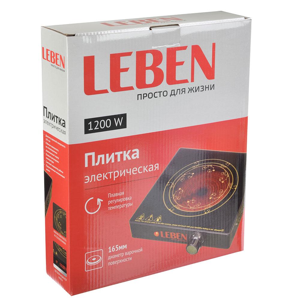 Плитка LEBEN 1200 Вт, 165 мм, стеклокерамика