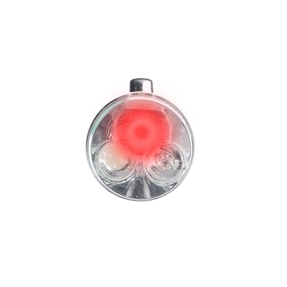 ЧИНГИСХАН Фонарик-брелок на карабине 1 LED + УФ + лазер, 3xAG13, алюминий, 6,6х1,2 см