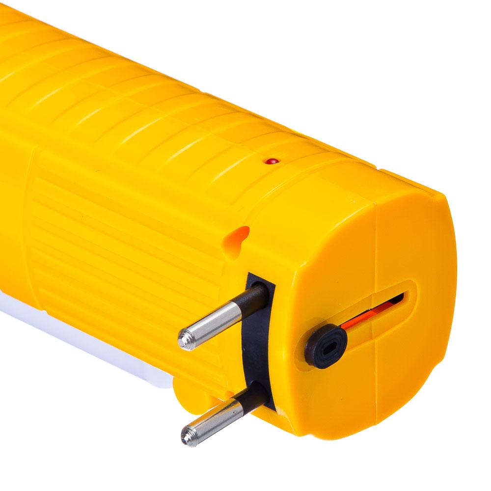 Фонарь аккумуляторный, пластик, 1+10LED, d5,7см x 18см, пит.220В, JA-1908