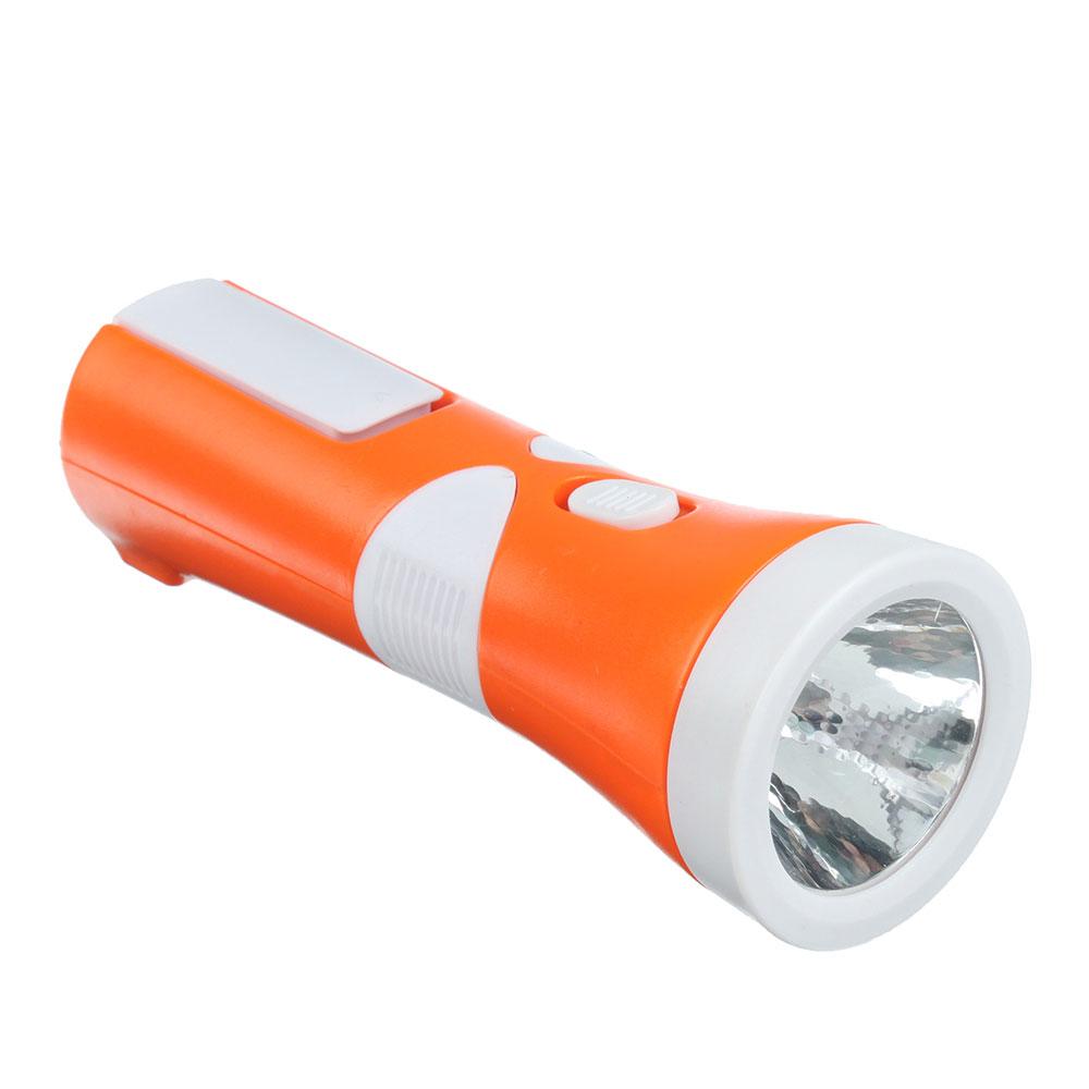 ЧИНГИСХАН Фонарь аккумуляторный 1х0,5 Вт + 8 мини COB LED, вилка 220В, пластик, 14,9x5,4см