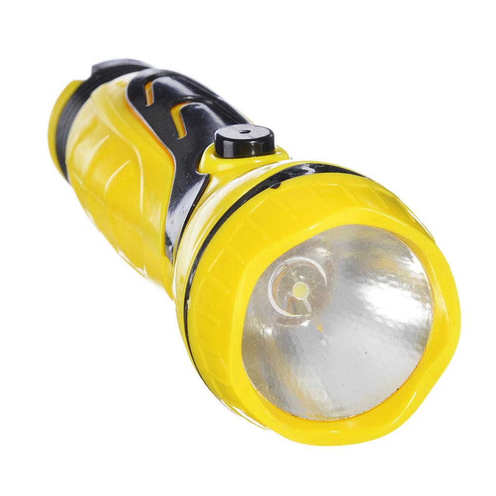 ЧИНГИСХАН Фонарик мини 1 LED, 1xAA, пластик, 11х4 см