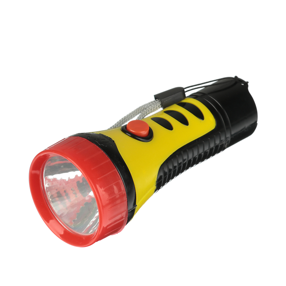 ЧИНГИСХАН Фонарик мини 1 LED, 1xAA, пластик, 10,6х4 см