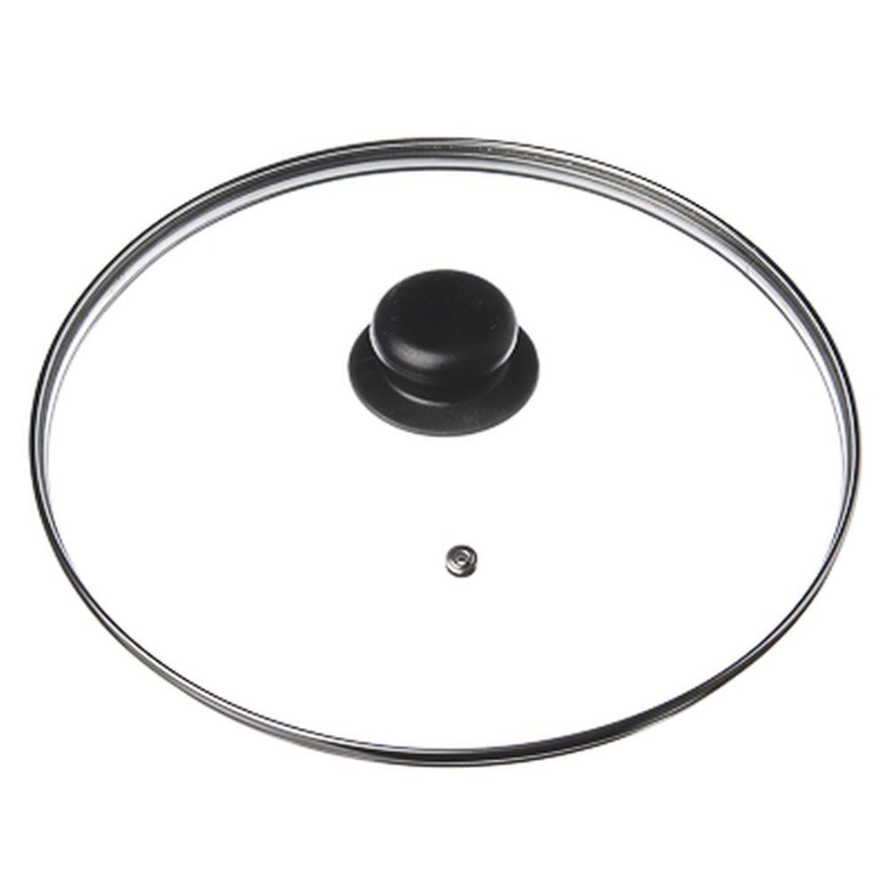 Крышка для сковороды стеклянная с ручкой,металлический ободок, 18 см