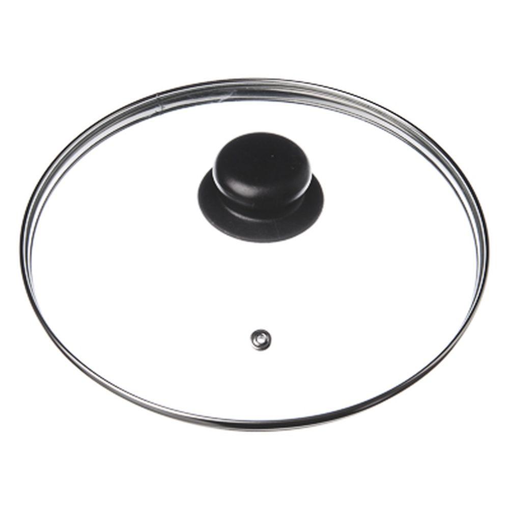 Крышка для сковороды стеклянная с ручкой,металлический ободок, 24 см