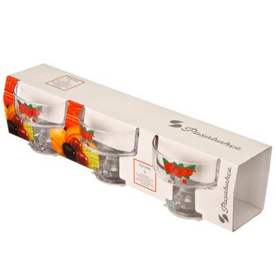Набор креманок стекло, 250мл, 3 дизайна, D41016/03