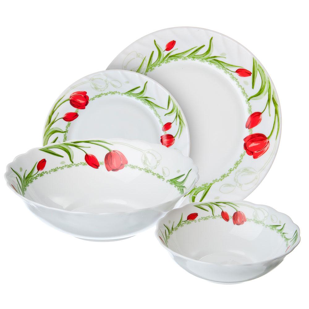 VETTA Дафна Набор столовой посуды 19 пр., опаловое стекло, W-19B6
