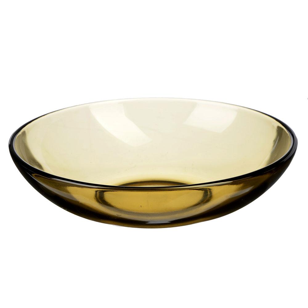 """Тарелка глубокая d.19 см, дымчатое стекло, """"Базилико"""""""