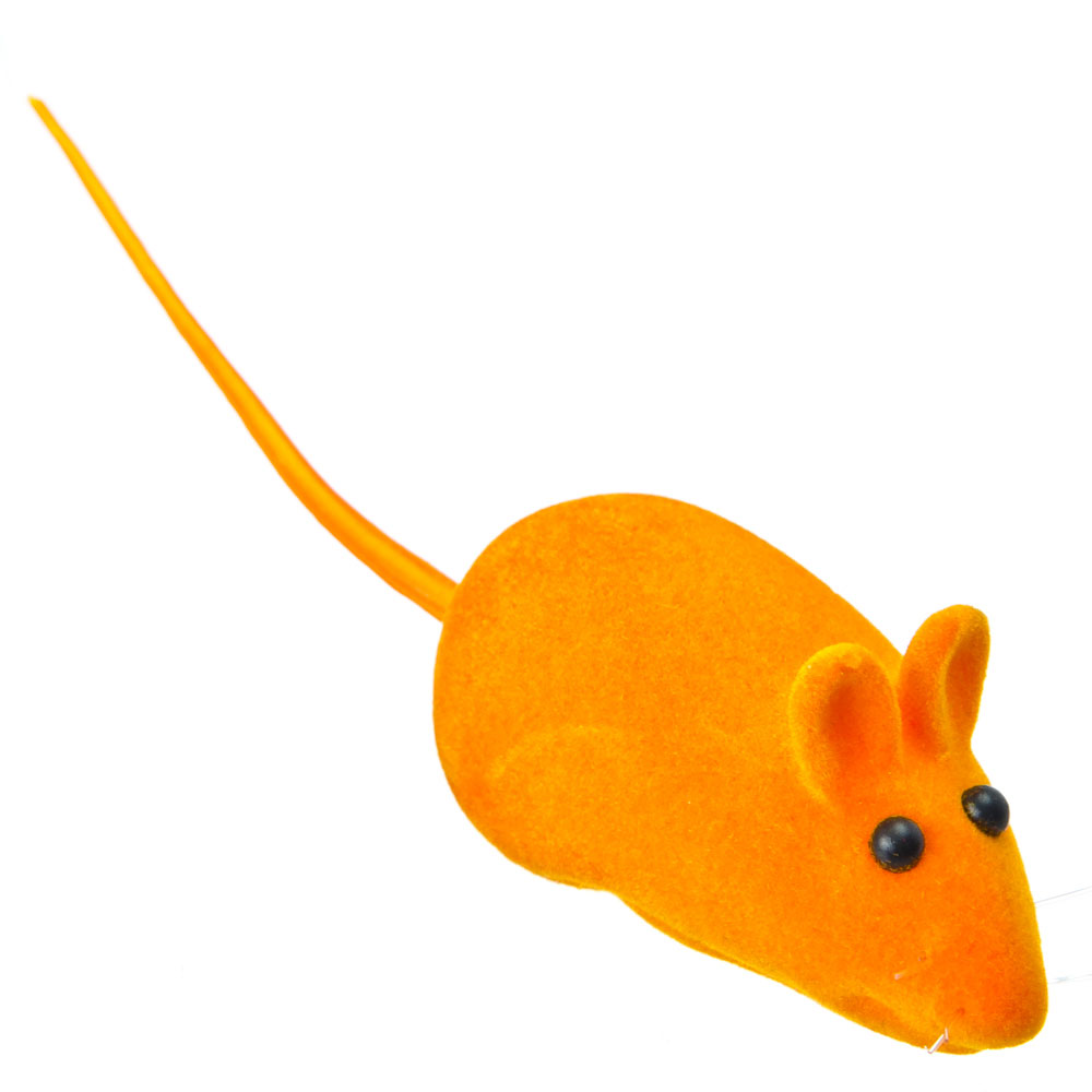 """Игрушка """"Мышка бархатная"""", резина, 5см, 6 цветов"""