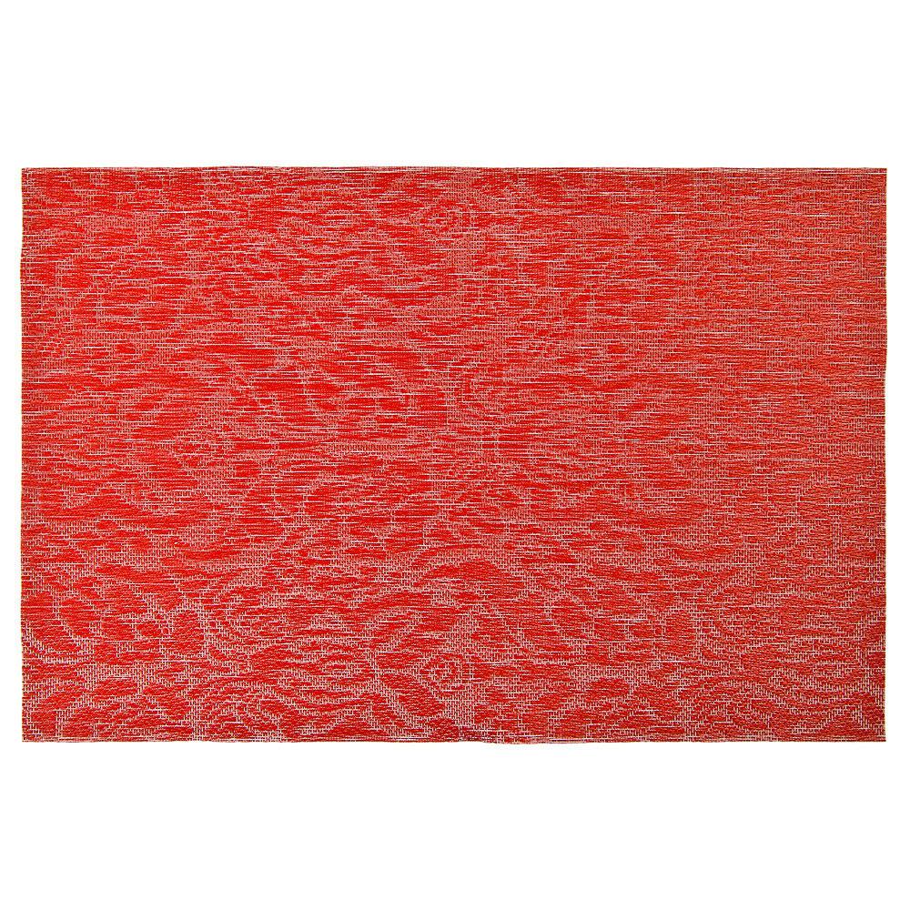 """Салфетка сервировочная ПВХ, 30x45см, """"Узор"""", красный"""