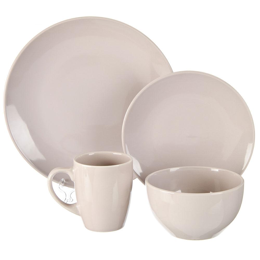 FARFALLE Акварель Набор столовой посуды 16 пр., керамика, серый, дизайн GC