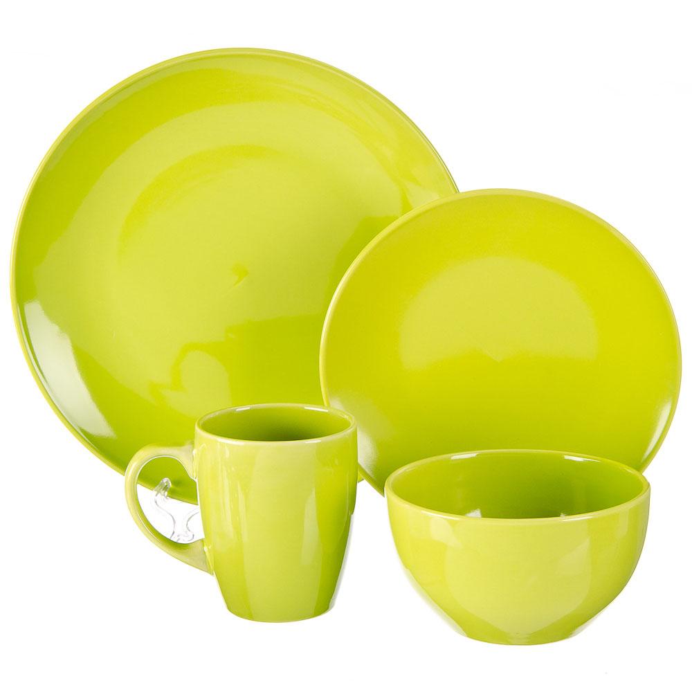 FARFALLE Акварель Набор столовой посуды 16 пр., керамика, лайм, дизайн GC