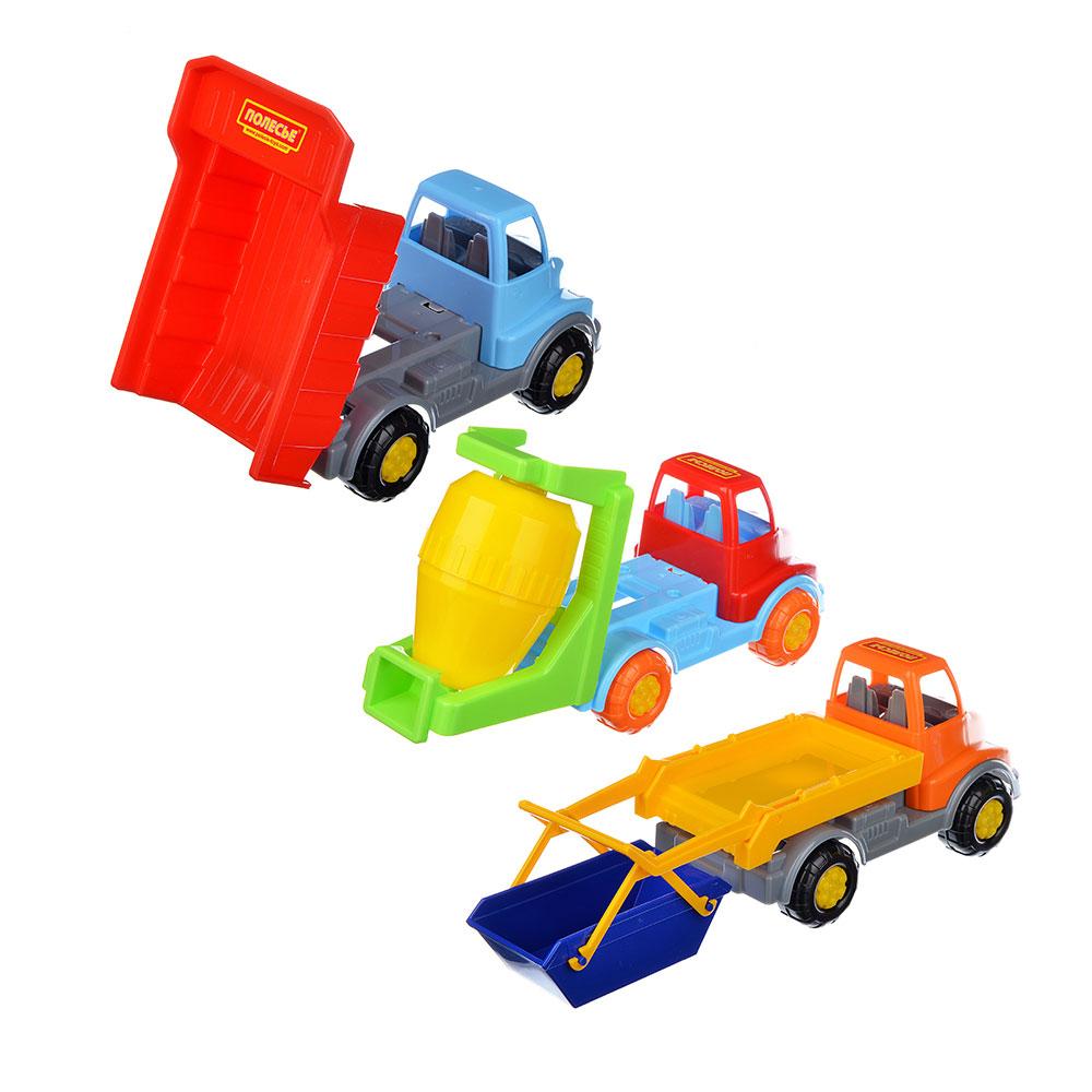 """ПОЛЕСЬЕ Автомобиль """"Леон"""", пластик, 23х11х13см, 5 дизайнов, 56863"""