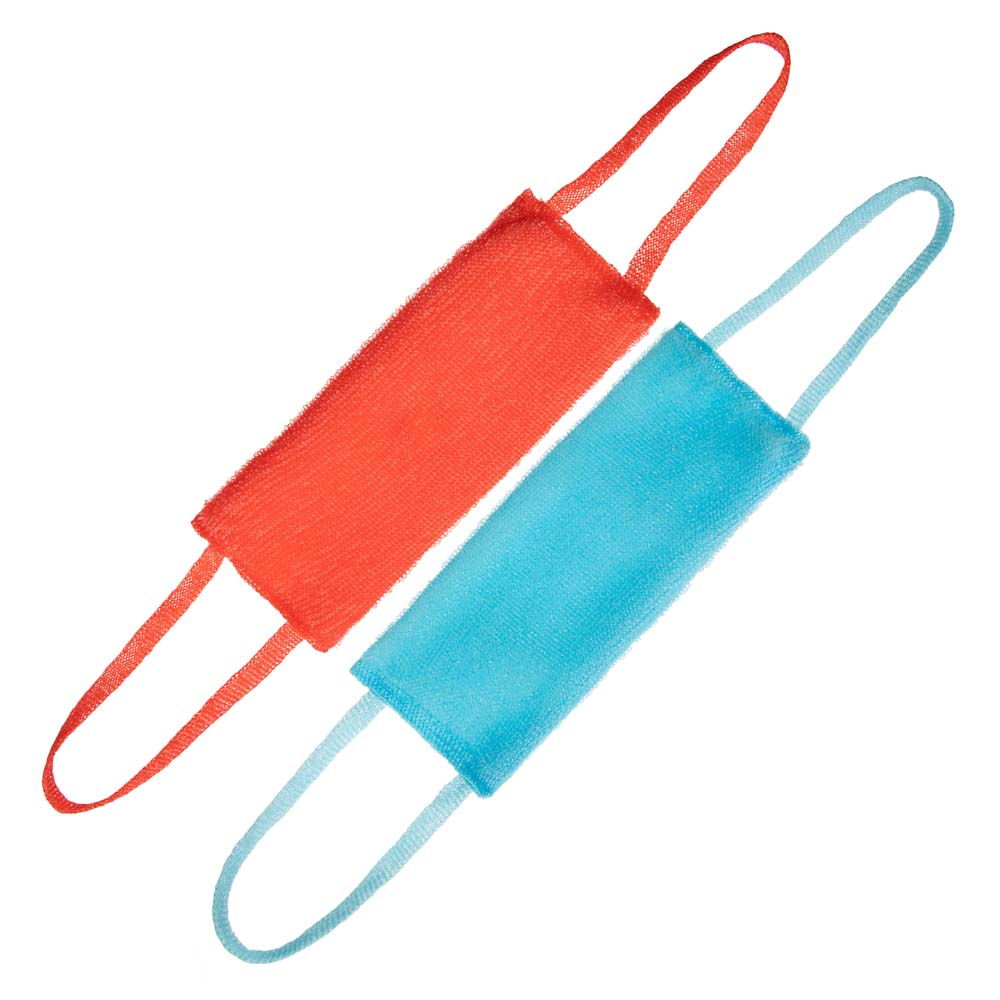 Мочалка банная с ручками двойная, ПП нить, 35x15x3см