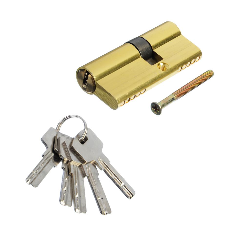 Сердцевина замка/ Цилиндровый механизм (алюминий/латунь) 70мм(30+40), кл-кл, 5кл (перфо), золото