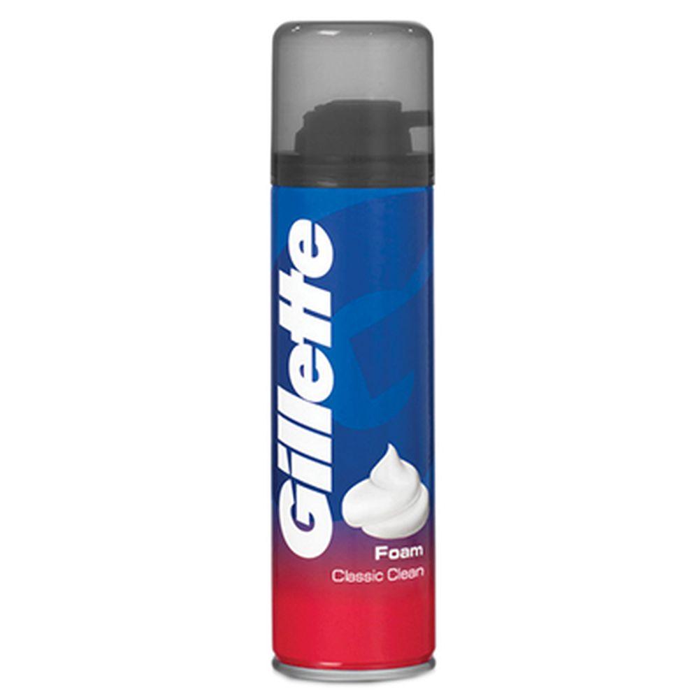 Пена для бритья GILLETTE Classic Clean (чистое бритье) ж/б 200мл