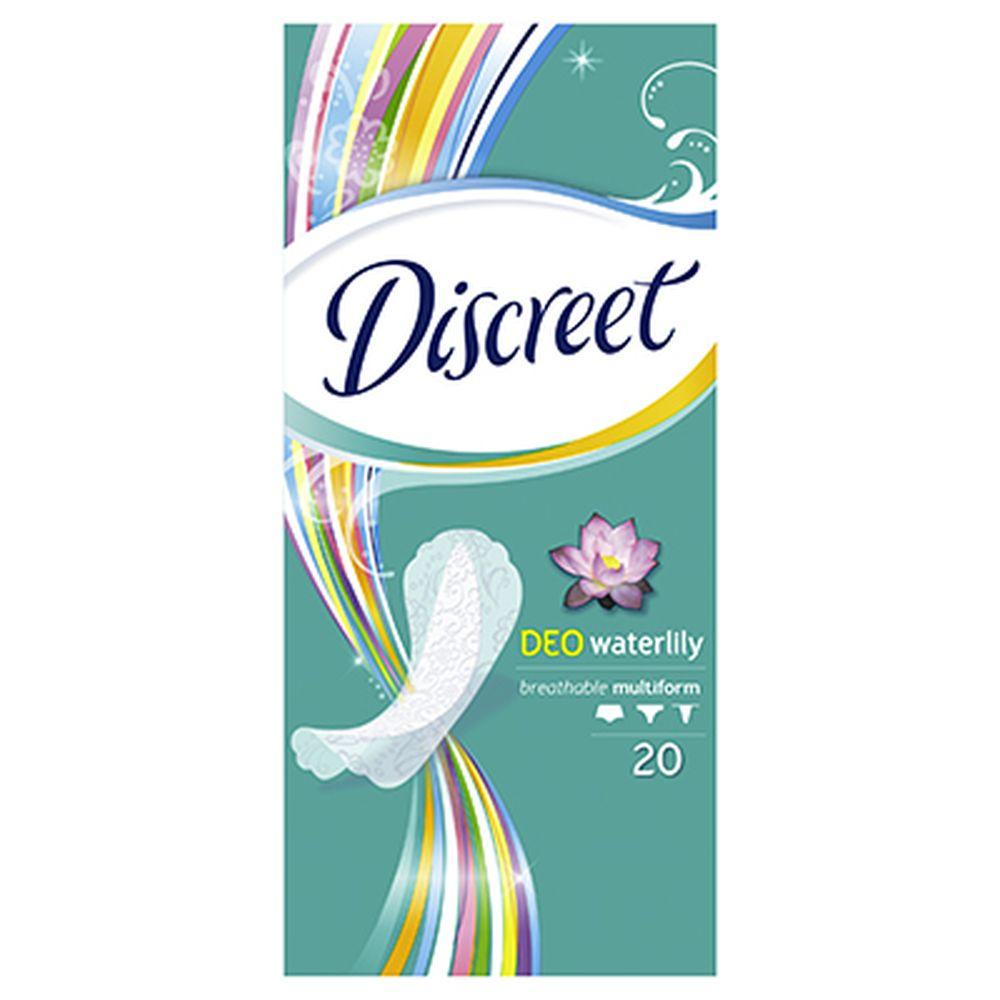 Прокладки гигиенические на каждый день DISCREET Deo Water Lily Multiform Single к/у 20шт