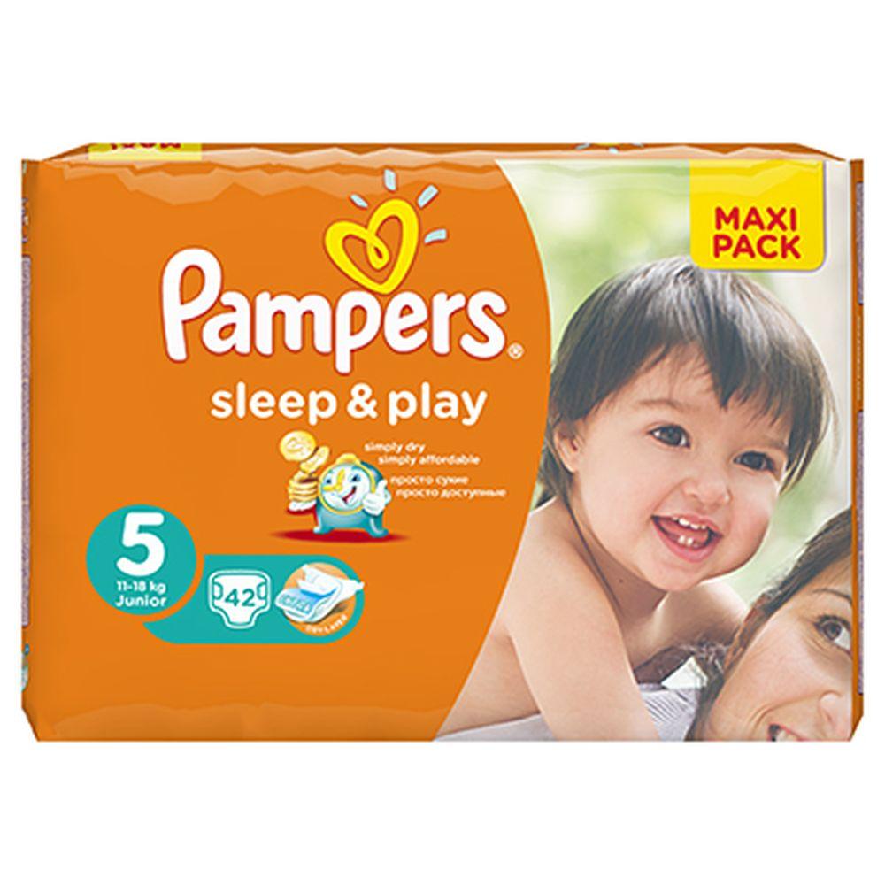 Подгузники детские PAMPERS Sleep & Play Junior (11-18 кг) Экономичная Упаковка пэт 42