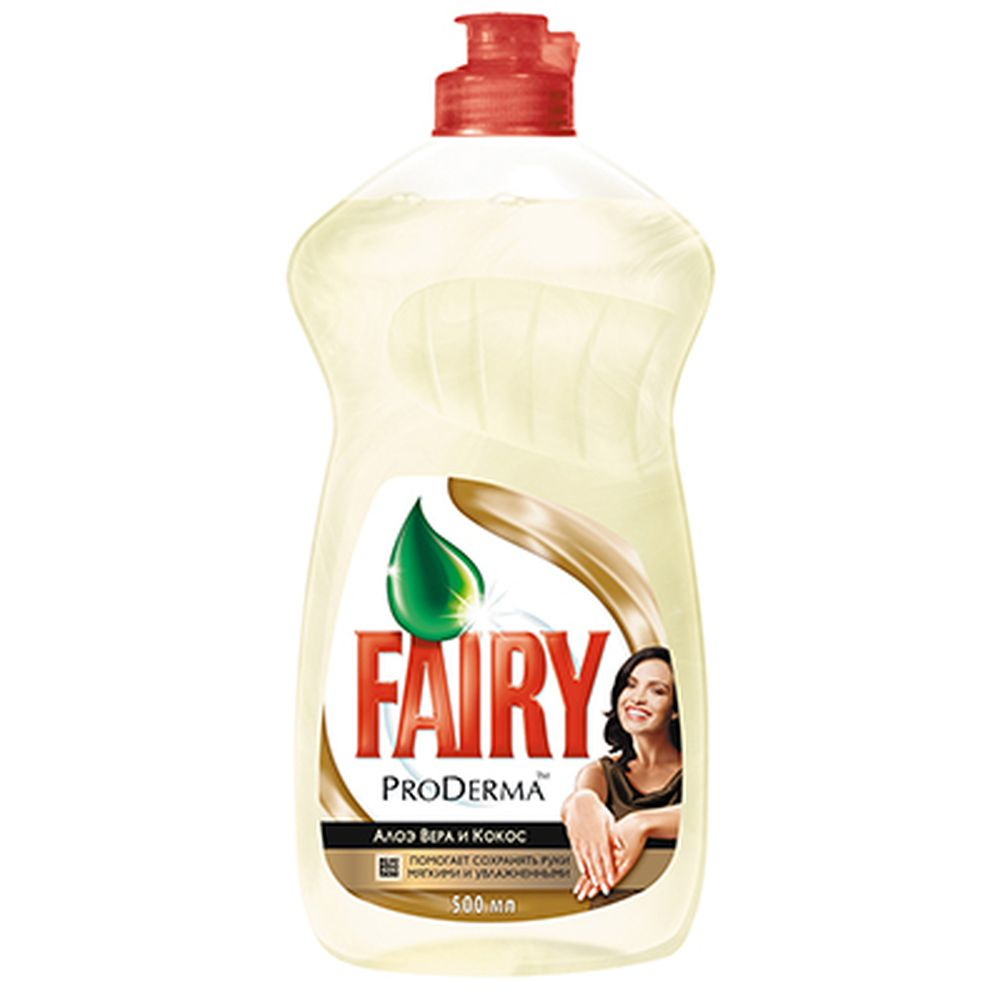 Средство для мытья посуды FAIRY ProDerma Алоэ Вера и Кокос 500мл