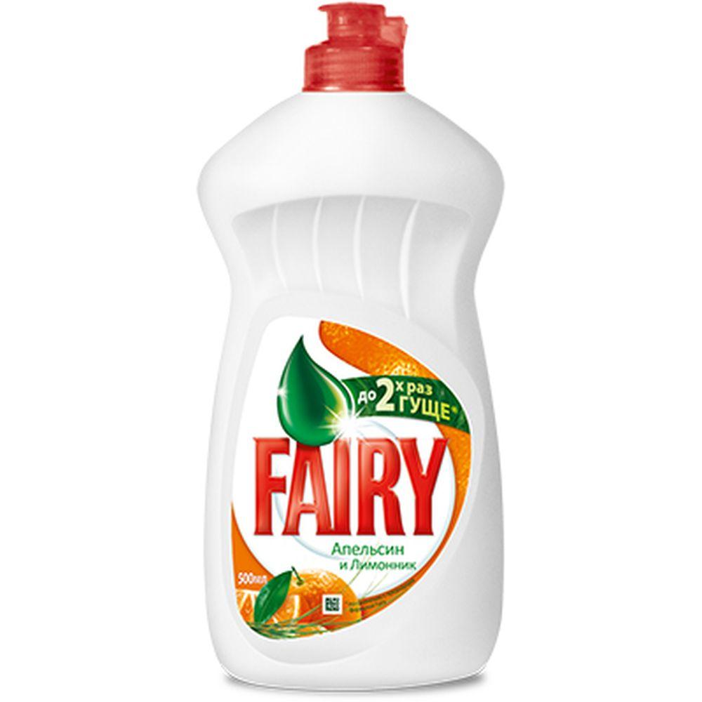 Средство для мытья посуды FAIRY Апельсин и лимонник п/б 500мл