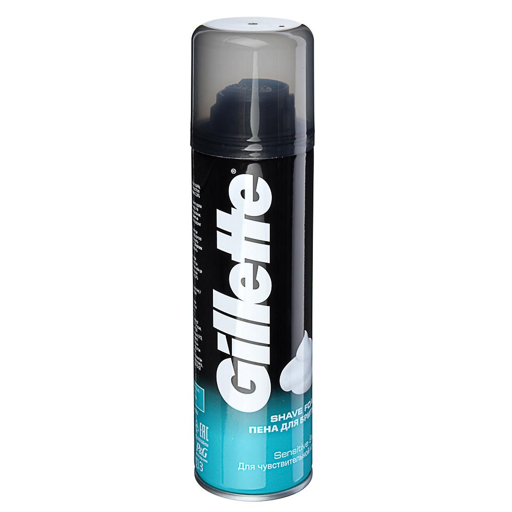 Пена для бритья GILLETTE Menthol (с ароматом ментола) ж/б 200мл