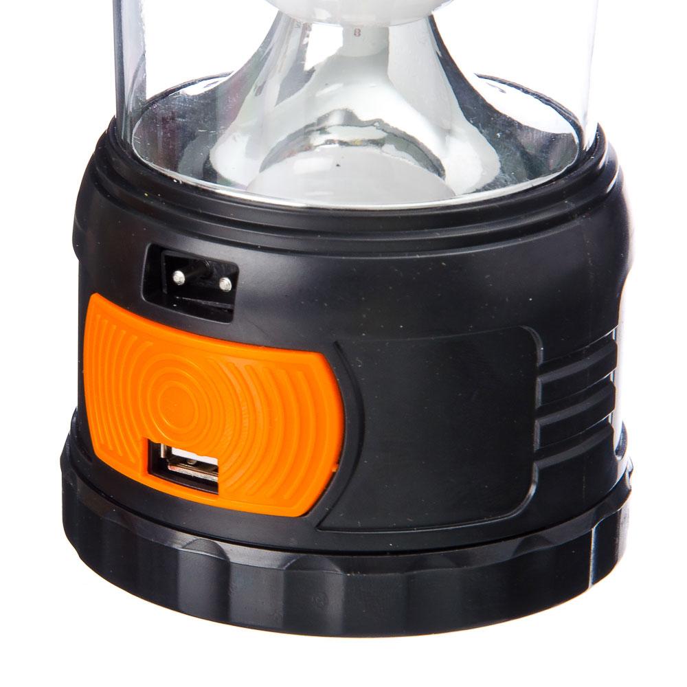ЕРМАК Фонарь переносной 5LED, пластик, 7,8x16,2см, пит.3xAA / 220В / солн.батарея