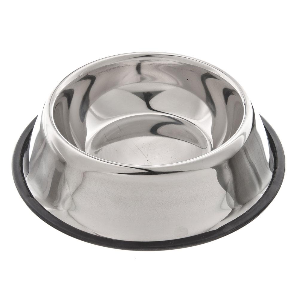 Миска для животных металлическая d22см, 500мл