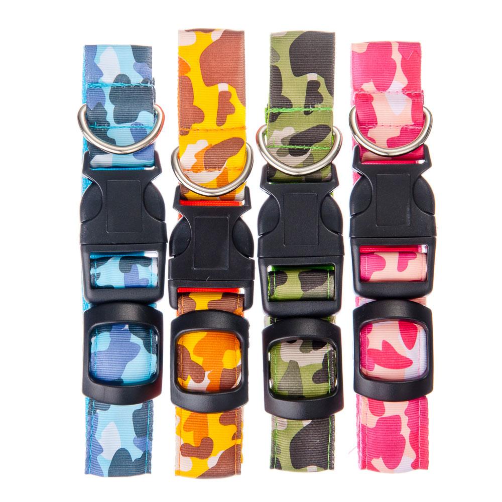 Ошейник светящийся, текстиль, пластик, размер S, 40см, 24 цвета