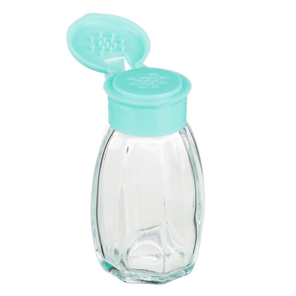 Набор для соли/перца, стекло, пластик, 3,5х7,5см
